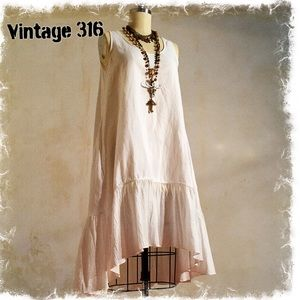 White Swing Dress with Pockets